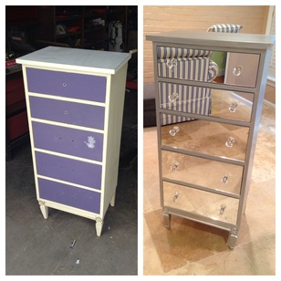 Diy Mirrored Dresser Silver Amp Pink Nails